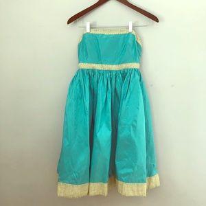 J. Crew Strapless Silk Tafetta Dress